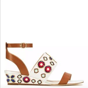 Tory Burch Wedge Brown Estella size 8